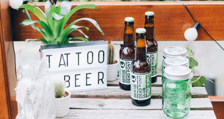 La bière s'installe à la table des mariés!