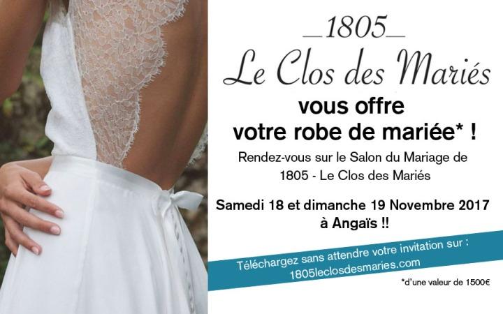 Gagne ta robe de Mariée avec 1805 – Le Clos des Mariés!