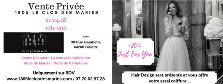 Vente Privée à Biarritz : la robe de vos rêves avec 1805 – Le Clos desMariés